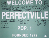 """1972 Dolphins """"Welcome To Perfectville"""" 16x20 Photo Signed by (27) With Bob Griese, Larry Csonka, Mercury Morris, Larry Little (JSA COA) at PristineAuction.com"""