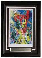 "Leroy Neiman ""Larry Bird vs Magic Johnson"" 16x22 Custom Framed Print Display"
