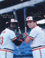 "Eddie Murray & Cal Ripken Jr. Signed Orioles 16x20 Photo Inscribed ""HOF 2003"" & ""2007 Hall of Fame"" (JSA COA) at PristineAuction.com"
