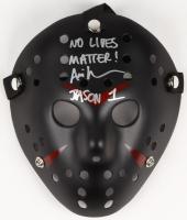 "Ari Lehman Signed Jason ""Friday the 13th"" Custom Matte Black Hockey Mask Inscribed ""Jason 1"" & ""No Lives Matter!"" (PA COA) at PristineAuction.com"