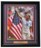 Abby Wambach Signed Team USA 22x27 Custom Framed Photo Display (JSA COA)