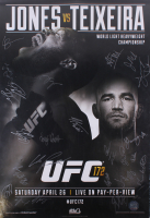 UFC #172 27x 38 Poster Signed by (22) with Jon Jones, Glover Teixeira, Anthony Johnson, Phil Davis (UFC Hologram) at PristineAuction.com