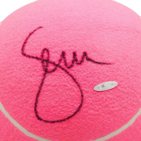 Serena Williams Signed Jumbo Wilson Pink Tennis Ball (UDA COA) at PristineAuction.com