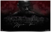 "Michael Jordan Signed Chicago Bulls ""City Of Big Shoulders"" Limited Edition 25x40 Photo (UDA COA)"