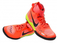 Serena Williams Signed Pink LE Nike Flare Shoes With Inscription (UpperDeck)