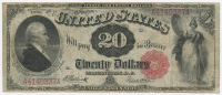 1880 $20 Twenty Dollars Legal Tender Large Bank Note
