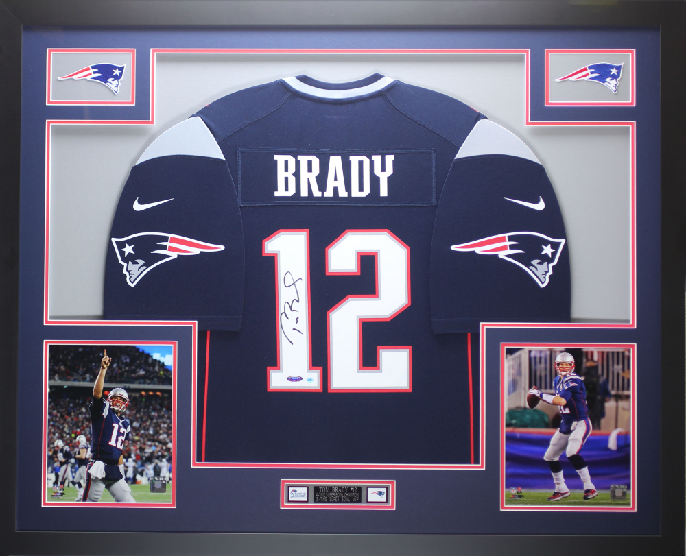 Tom Brady Signed 35x43 Custom Framed Jersey (TriStar Hologram ...