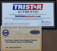 Tom Brady Signed 35x43 Custom Framed Jersey (TriStar Hologram & Steiner COA) at PristineAuction.com