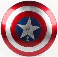 "Stan Lee Signed ""Captain America"" Marvel Full-Size Replica Plastic Shield (Radtke COA & Stan Lee Hologram)"