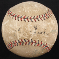 Babe Ruth Single Signed OAL Harridge Baseball (PSA LOA)