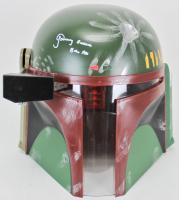 """Jeremy Bulloch Signed Star Wars """"Boba Fett"""" Full-Size Deluxe Edition Helmet Inscribed """"Boba Fett"""" (Beckett COA)"""