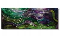 "Nicholas Yust Signed ""Esne X3"" 24x60x1 Original 3 Panel Metallic Art at PristineAuction.com"