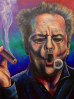 """Bill Lopa Signed """"Jack Nicholson"""" 30x40 Limited Edition AROC Hand-Embellished Giclee on Canvas"""
