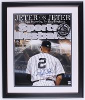"""Derek Jeter Signed """"Sports Illustrated"""" 22.5x26.5 Custom Framed Display (Steiner COA & MLB Hologram)"""