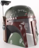 """Jeremy Bulloch Signed Star Wars """"Boba Fett"""" Full-Size Deluxe Edition Helmet Inscribed """"Boba Fett"""" (JSA COA)"""