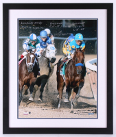 Victor Espinoza Signed 22x26 Custom Framed Photo Display with Mulitple Inscriptions (Steiner COA)