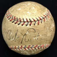 1932 Yankees World Series Championship Team OAL Baseball Signed by (20) with Babe Ruth, Lou Gehrig, Tony Lazzeri, Red Ruffing, Earle Combs, Joe Sewell, George Pipgras, Cy Perkins, Myril Hoag (JSA LOA)