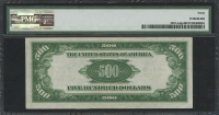 1934 $500 Five Hundred Dollars Federal Reserve Note - San Francisco - LA Block - FR#2201 - Ldgs Dark Green (PMG 40) at PristineAuction.com