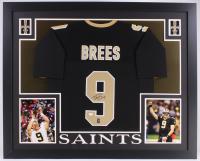 Drew Brees Signed Saints 35x43 Custom Framed Jersey (JSA COA & Brees Hologram)