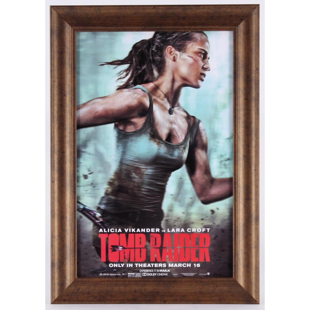 Tomb Raider 14x20 Custom Framed Movie Poster Pristine Auction