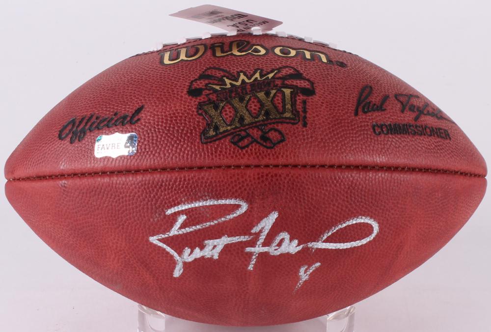 Brett Favre Signed Super Bowl Xxxi Official Game Ball