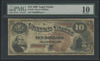 1880 $10 Ten Dollars Legal Tender Large Bank Note (PMG 10)