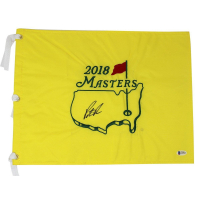 Patrick Reed Signed 2018 Augusta National Masters Flag (Beckett COA)