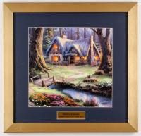 "Thomas Kinkade Walt Disney ""Snow White Discovers the Cottage"" 15.5x16 Custom Framed Print Display"