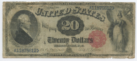 1880 $20 Twenty Dollars Legal Tender Large Bank Note