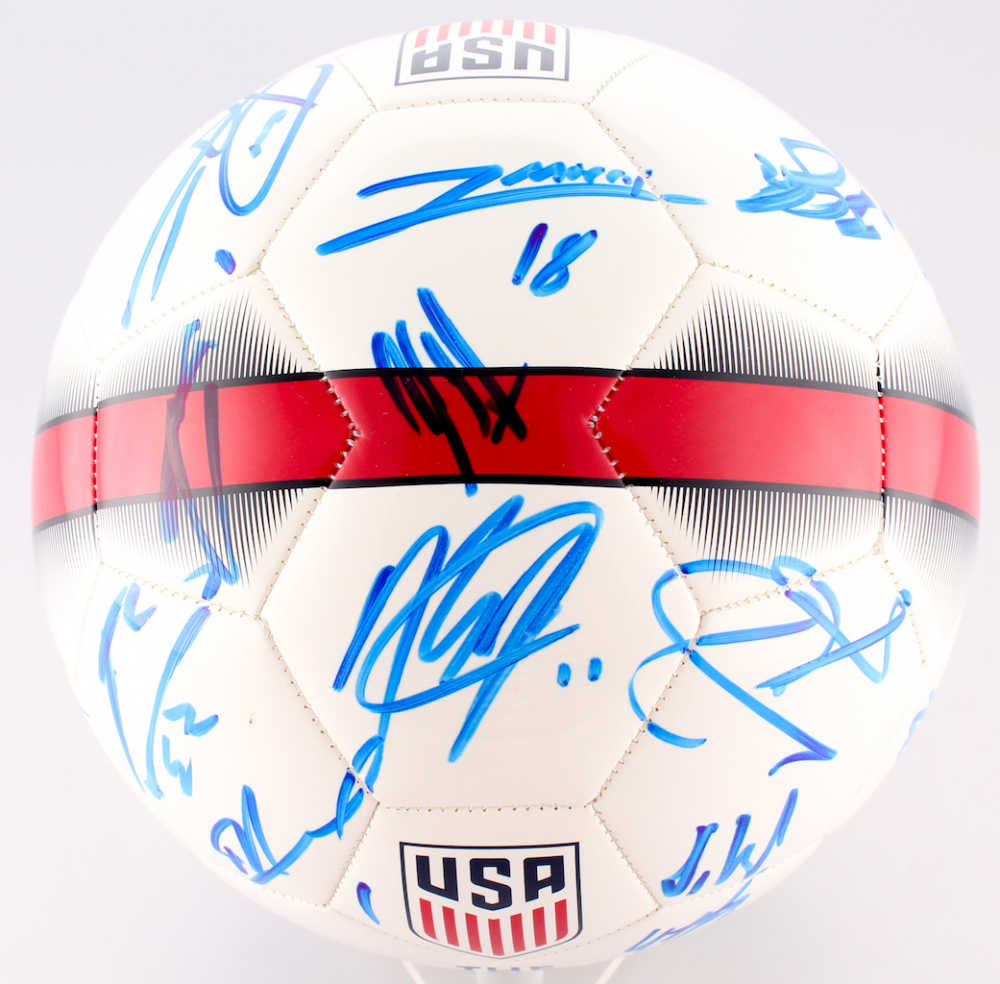 b5b06f7d32e 2017 US Men s National Team Logo Soccer Ball Team-Signed by (22) With