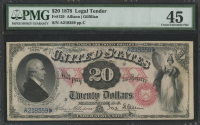 1878 $20 Twenty Dollars Legal Tender Large Bank Note (PMG 45)