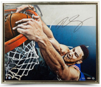 "Ben Simmons Signed Philadelphia 76ers ""Jam"" Limited Edition 20x24 Custom Framed Photo (UDA COA) at PristineAuction.com"