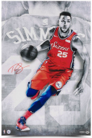 "Ben Simmons Signed Philadelphia 76ers ""Driven"" 16x24 Photo (UDA COA) at PristineAuction.com"