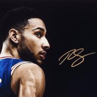 "Ben Simmons Signed Philadelphia 76ers ""Deliver"" 15x36 Photo (UDA COA) at PristineAuction.com"