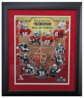 "San Francisco 49ers ""Hall of Famers"" 23x27 Custom Frame Print Signed by (11) with Joe Montana, Jerry Rice, Steve Young, Ronnie Lott, Y.A. Tittle (Radtke COA) at PristineAuction.com"
