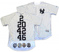 "Derek Jeter, Mariano Rivera, Andy Pettitte & Jorge Posada Signed LE Yankees ""Core Four"" Majestic Authentic Jersey (Steiner COA) at PristineAuction.com"