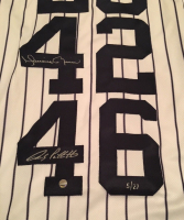 """Derek Jeter, Mariano Rivera, Andy Pettitte & Jorge Posada Signed LE Yankees """"Core Four"""" Majestic Authentic Jersey (Steiner COA) at PristineAuction.com"""