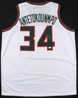 Giannis Antetokounmpo Signed Bucks Jersey (JSA COA) at PristineAuction.com
