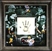 Brett Favre Signed Packers 36x36 Custom Framed Limited Edition Tegata Display (UDA COA) at PristineAuction.com