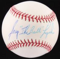 "Greg ""The Bull"" Luzinski Signed OML Baseball (Fanatics Hologram & MLB Hologram) at PristineAuction.com"
