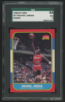 1986-87 Fleer #57 Michael Jordan RC (SGC 7)