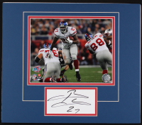 Brandon Jacobs Signed Giants 14x16 Custom Matted Cut Display (Palm Beach COA)