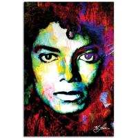 """""""Michael Jackson Study 1"""" 22x32 Contemporary Celebrity Pop Art, Ltd. Ed. Giclee on Glossy Acrylic by Mark Lewis at PristineAuction.com"""