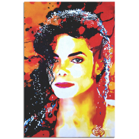 """Michael Jackson Perfection Veteran"" 22x32 Contemporary Celebrity Pop Art, Ltd. Ed. Giclee on Metal by Mark Lewis at PristineAuction.com"