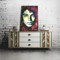 """""""Michael Jackson Study """" 22x32 Contemporary Celebrity Pop Art, Ltd. Ed. Giclee on Metal by Mark Lewis at PristineAuction.com"""