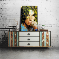 """""""Robert Plant Shear Power"""" 22x32 Contemporary Rock Star Pop Art, Ltd. Ed. Giclee on Glossy Acrylic by Mark Lewis at PristineAuction.com"""
