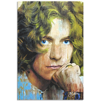 """""""Robert Plant Shear Power"""" 22x32 Contemporary Rock Star Pop Art, Ltd. Ed. Giclee on Metal by Mark Lewis at PristineAuction.com"""