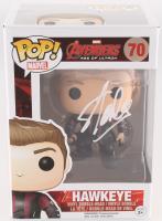 "Stan Lee Signed ""Hawkeye"" #70 Avengers: Age of Ultron Marvel Funko Pop Bobble-Head Vinyl Figure (Radtke COA & Lee Hologram)"