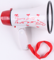 """Jimmy Hart Signed Megaphone Inscribed """"Mouth of the South"""" (MAB Hologram)"""