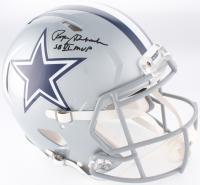 "Roger Staubach Signed Dallas Cowboys Full-Size Authentic On-Field Speed Helmet Inscribed ""SB VI MVP"" (JSA COA)"